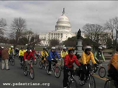 Photo - Bicyclists in front of the Capital Building in Washington, D.C.