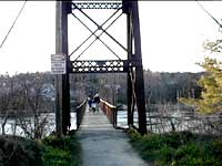 Pedestrian bridge across the Androscoggin River.