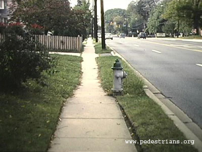 Sidewalk needs edging