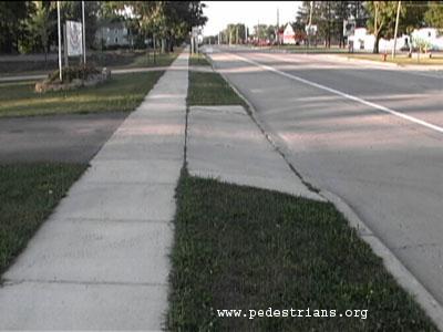 Perils For Pedestrians Sidewalk Setbacks